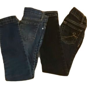 2 pairs of girls Jeans